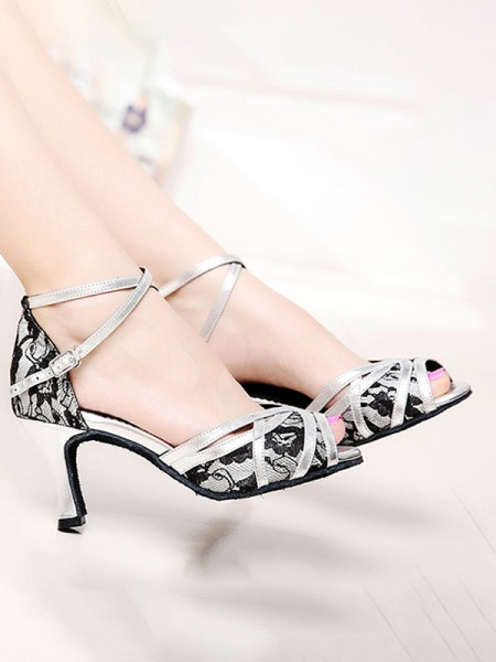Aux Femmes PU Peep Toe With Ankle Strap Chunky Heel Des sandales