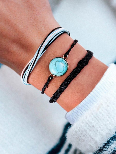 Dreamlike Alliage With Stone Hot Sale Bracelets(3 Pieces)