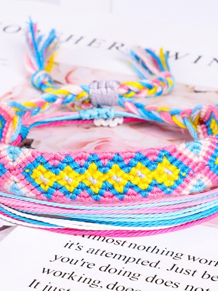 Beautiful Cotton Thread Hot Sale Bracelets(3 Pieces)