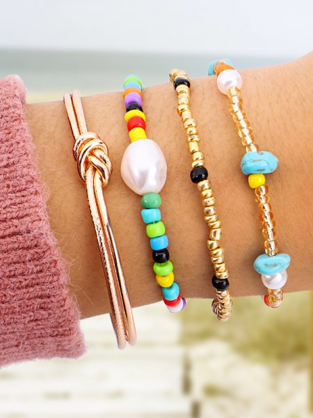 Joli Pearl With Alliage Hot Sale Bracelets(4 Pieces)