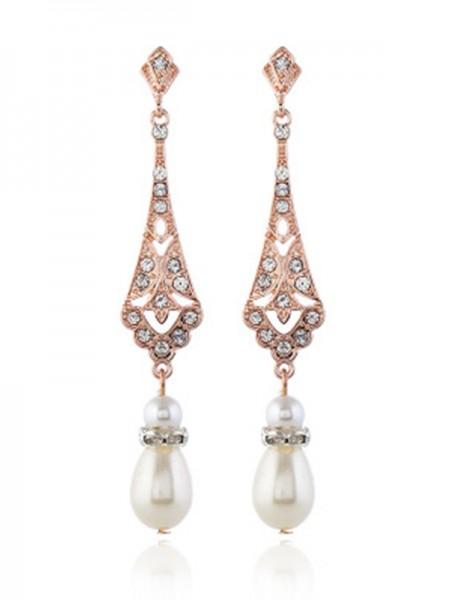 Joli Alliage With Pearl Des boucles d'oreilles For Ladies