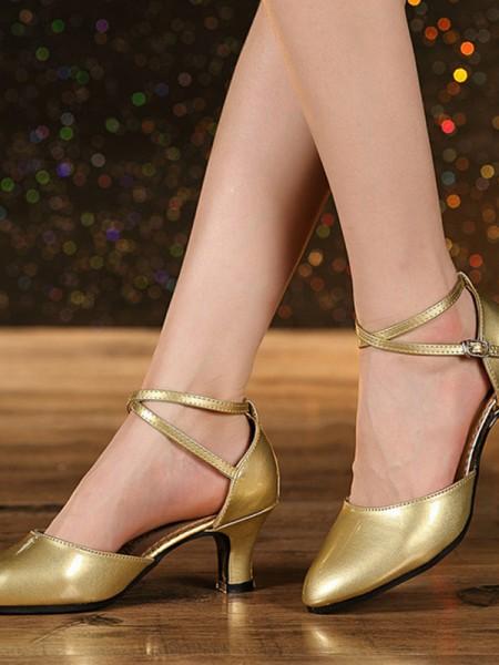 Women's Leatherette Cone Heel Closed Toe Sandals