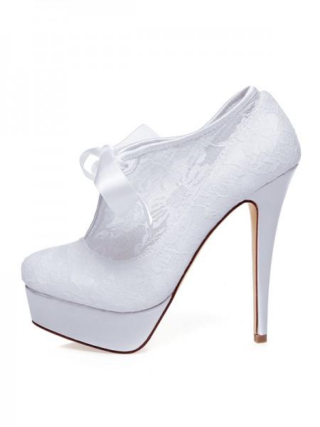 Women's Satin Toe Fermé Silk Stiletto Heel Chaussures de mariage