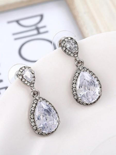 Gorgeous S925 Silver With Cristal Ladies's Des boucles d'oreilles