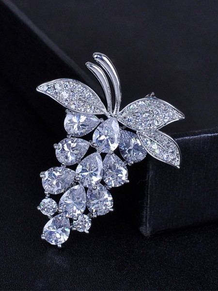 Fruit Shaped Zircon Ladies' Broche