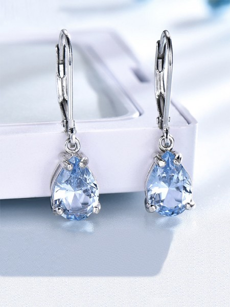 Charming Gemstone With S925 Silver Des boucles d'oreilles For Women