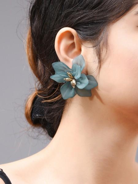 Mode Acrylic With Flowers Des boucles d'oreilles For Women