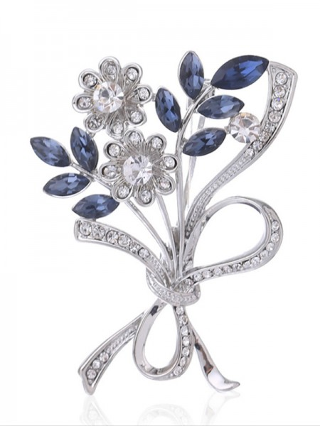 Gracieux Alliage With Cristal Ladies' Broche
