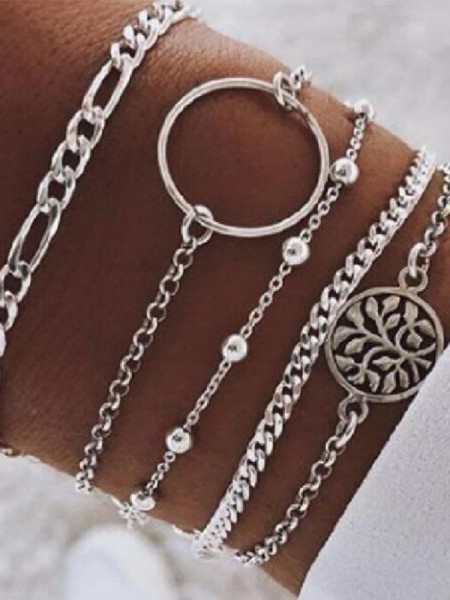 Mode Alliage Hot Sale Bracelets(5 Pièces)