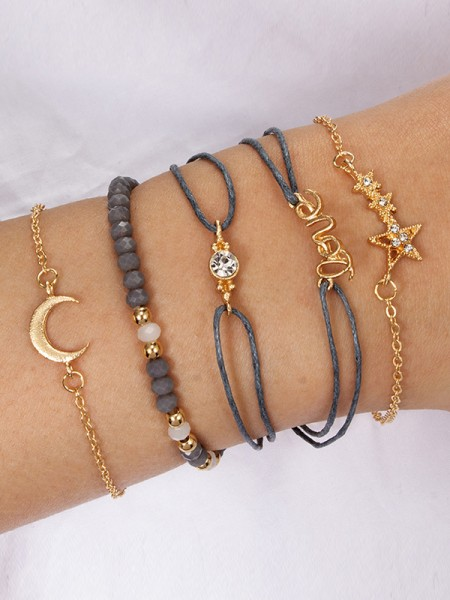 Brilliant Alliage Avec Faux diamants/Star Bracelets(6 Pièces)