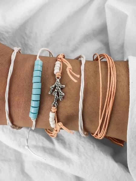 Particular Alliage Avec Fish Bracelets(4 Pièces)