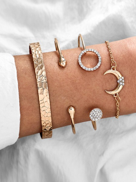 Fascinating Alliage Avec Faux diamants Bracelets(4 Pièces)