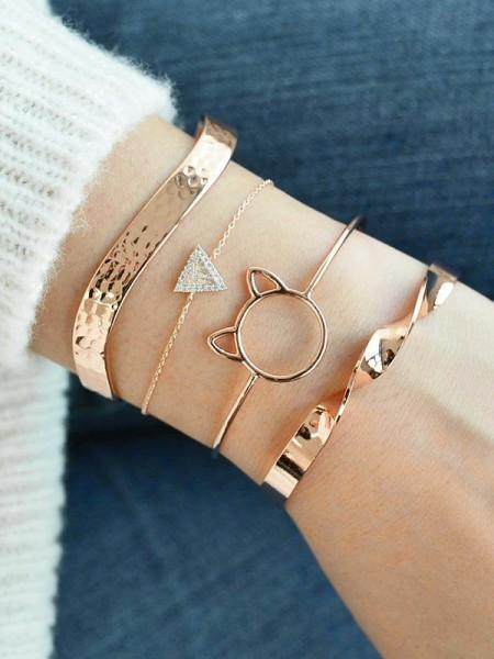 Shinning Alliage Avec Faux diamants Bracelets(4 Pièces)