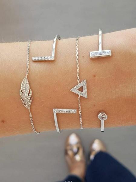 Noble Alliage Avec Leaf Bracelets(4 Pièces)
