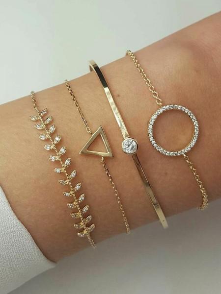 Nouveau Style Alliage Avec Faux diamants Bracelets(4 Pièces)