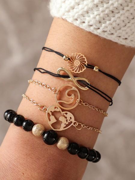 Amazing Alliage Avec Beads Bracelets(5 Pièces)
