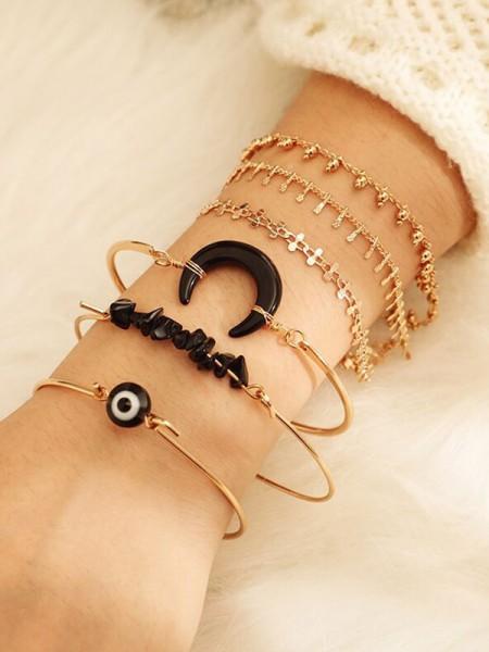 Exquis Alliage Avec Moon Bracelets(6 Pièces)