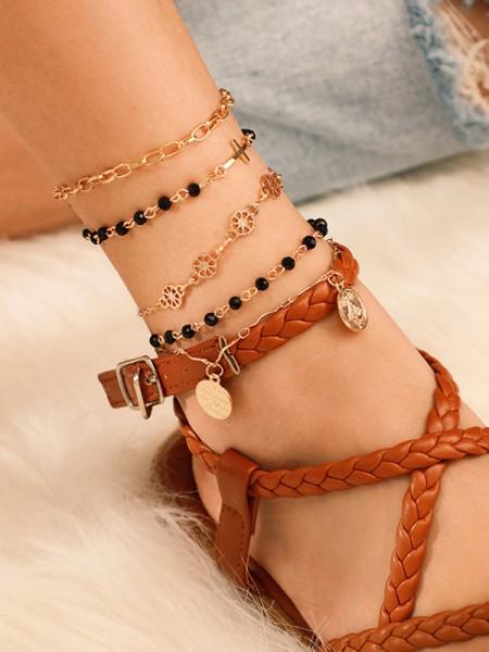 Joli Alliage Avec Beads Bracelets(4 Pièces)