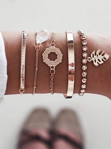 Unique Alliage Avec Shell Bracelets(5 Pièces)