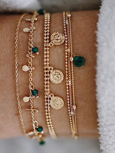Beautiful Alliage Avec Cristal Bracelets(6 Pièces)