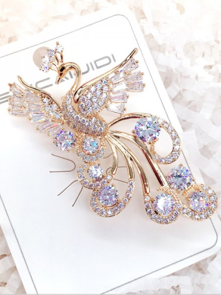Fantaisie Alliage With Zircon Ladies' Broche