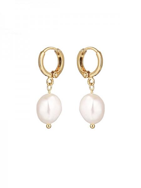 Élégant Pearl With Copper Ladies's Des boucles d'oreilles