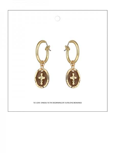 Delicate Zinc Alliage With Cross Des boucles d'oreilles For Ladies