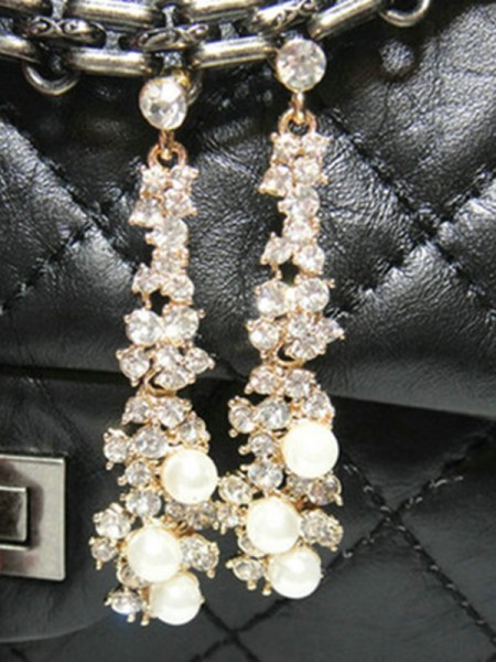 Attractive Alliage With Faux diamants Ladies's Des boucles d'oreilles