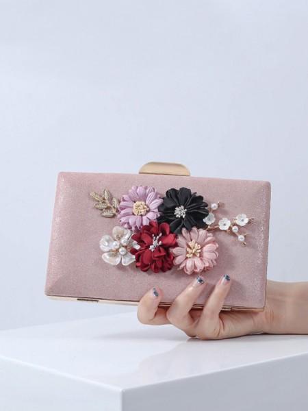 Joli PU Soirée Sacs à main With Flowers