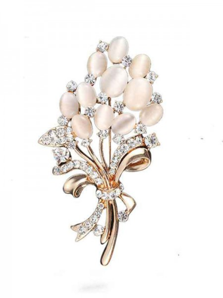 Charmant Alliage With Faux diamants Ladies' Broche